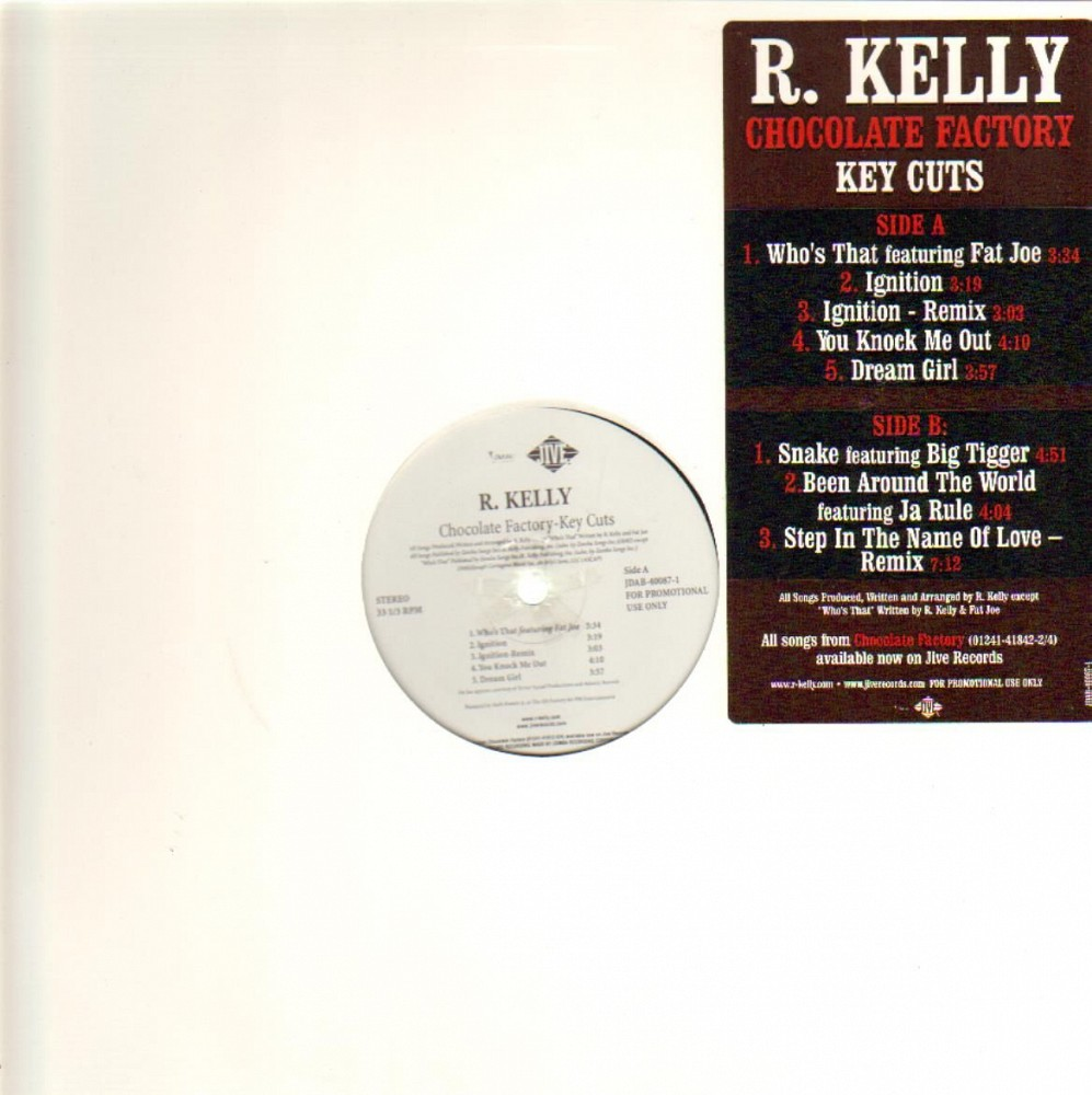 R. Kelly - Chocolate Factory - Key Cuts - vinyl records online Praha