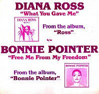 Diana Ross / Bonnie Pointer - What You Gave Me / Free Me From My Freedom