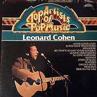 Leonard Cohen - Top Artists Of Pop Music