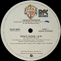 Venus Dodson - Night Rider / Where Are We Headed