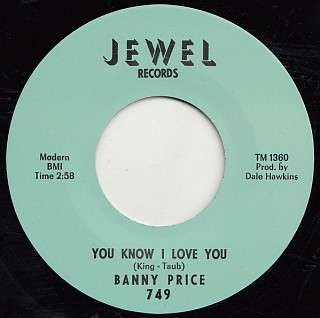 Banny Price - You Know I Love You / You Love Me Pretty Baby