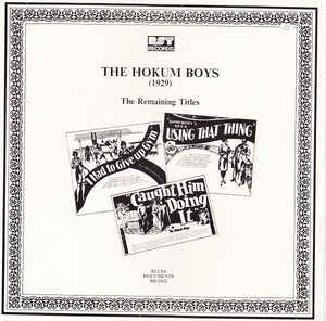 The Hokum Boys - (1929) The Remaining Titles