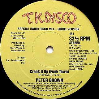 Peter Brown - Crank It Up (Funk Town)